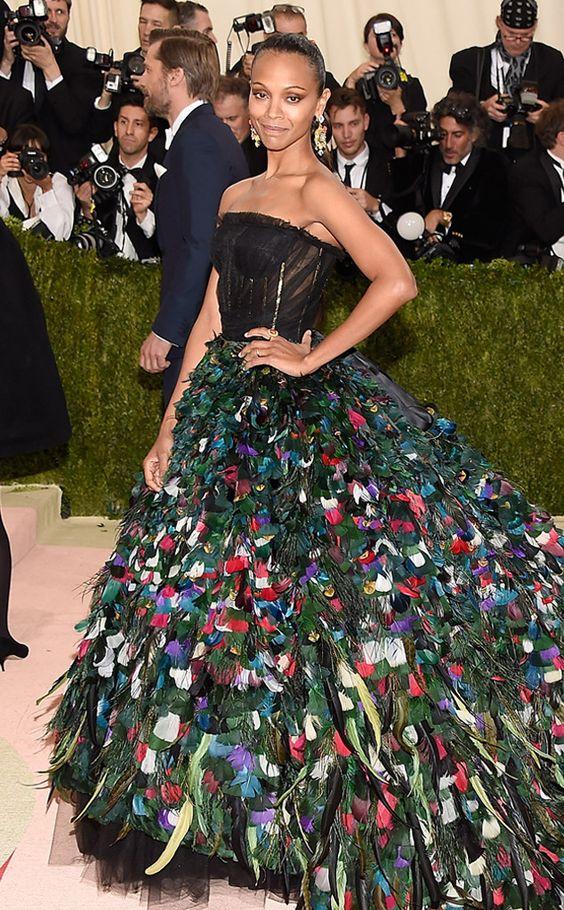 Met Gala 2016:  Zoe Saldana in Dolce & Gabbana: