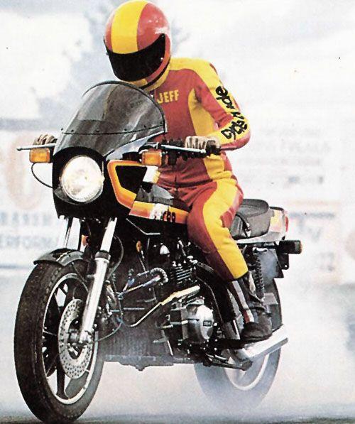 Turbo Charged Kawasaki Z1R Burnout!