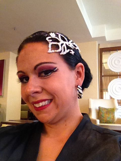 Competition Hair And Makeup For Ballroom And Latin Dance. | My Style | Pinterest | Hair Dance ...