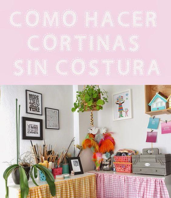 Como hacer unas cortinas sin saber coser lalole blog blog - Como colgar unas cortinas ...