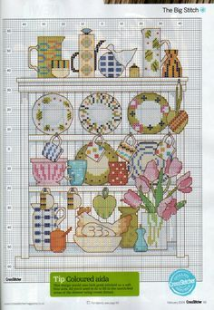 cross stitch kitchen - Pesquisa Google