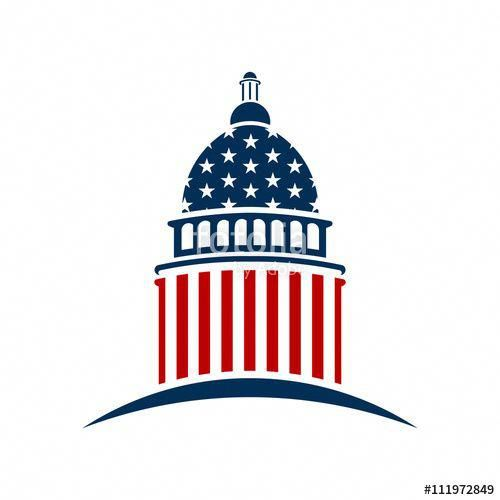 Download The Royalty Free Vector American Capitol Logo Vector Graphic Design Designed By Fotolia365 At The Low Photographer Portfolio Marketing Stock Market