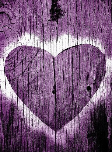 Wooden purple of my Heart