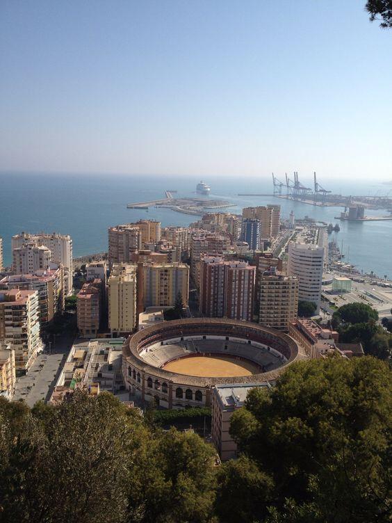 View from Parador, Malaga, Spain