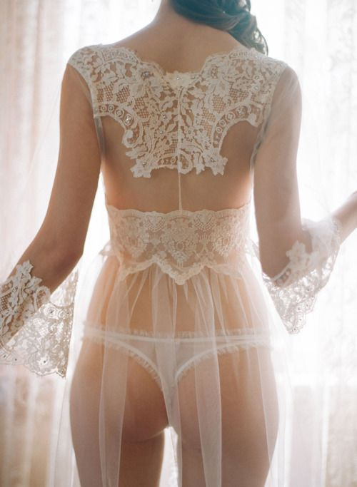 very pretty. wedding lingerie