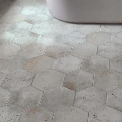 Carrelage Sol Hexagonal Effet Carreaux De Ciment 24x27 7 White