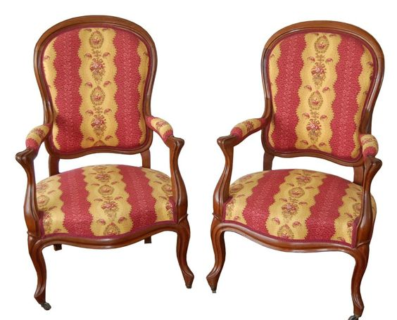 French bergere chairs. CIRCA: 1900's