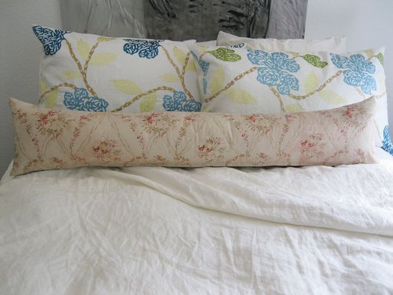 Shabby Chic Long Pillow Bedding Long Pillow by SPCustomDrapery $110