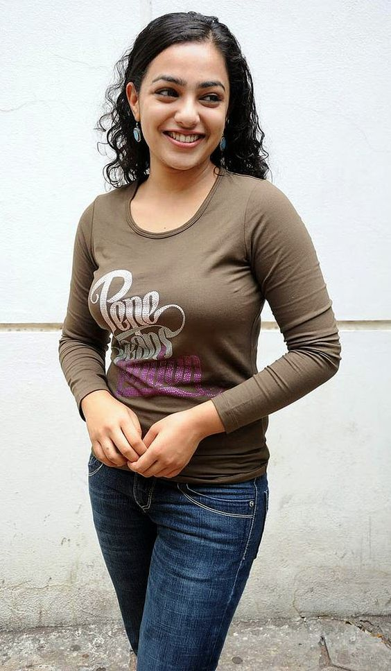 actress shirt menon indian nithya south tamil telugu jeans tight bollywood actresses shirts bangalore custom fuck film
