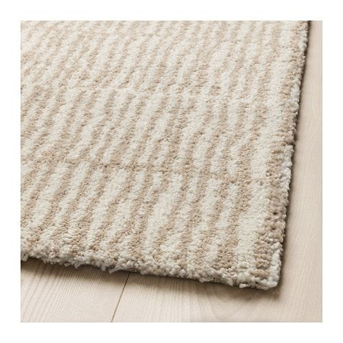 Lindelse Rug High Pile Natural Beige 5 7 X7 10 Ikea Rug Rugs On Carpet Rugs