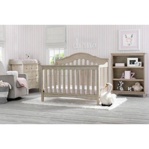 Delta Children Farmhouse 3 Drawer Dresser With Changing Top Textured Limestone Delta Children Convertible Crib Cribs