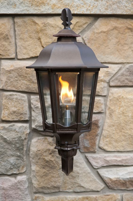 Wall Mounted Straight Open Flame Bavarian Lamps Welcome Guests To This Home I