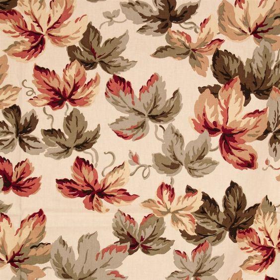 #VintageFabricIvyLeaves Jay Yang Design Crafts Upholstery 56x72 Fall Cotton #JayYang