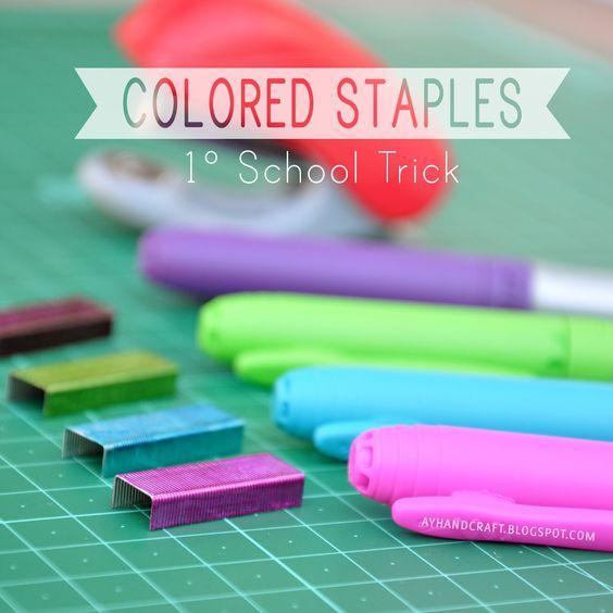 DIY: Colored Staples