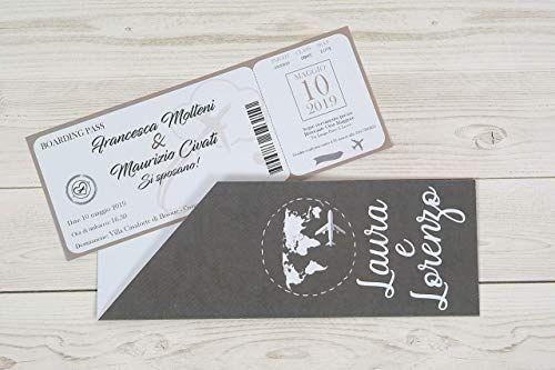 Partecipazioni Matrimonio Personalizzate Inviti Nozze Biglietto Aereo Book Cover 10 Things