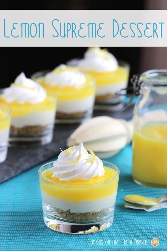 Lemon Supreme Dessert | Cooking on the Front Burner #lemondessert #lemonsupreme