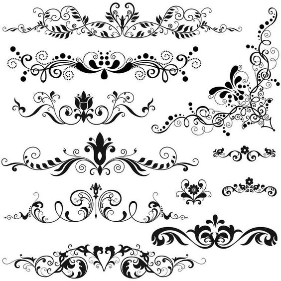 brush motif baroque 2 images d co mariage. Black Bedroom Furniture Sets. Home Design Ideas