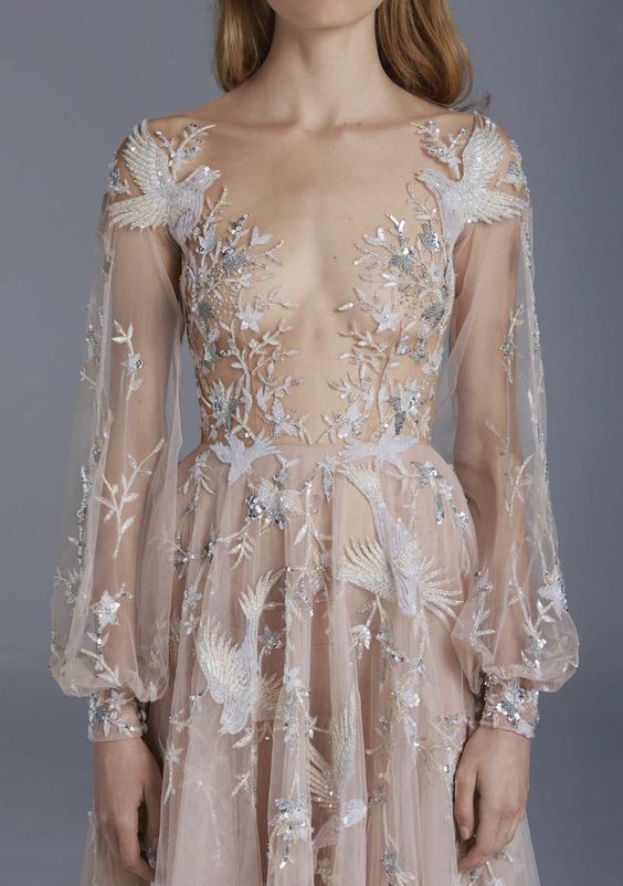 We're totally in love with these romantic naked dresses.: