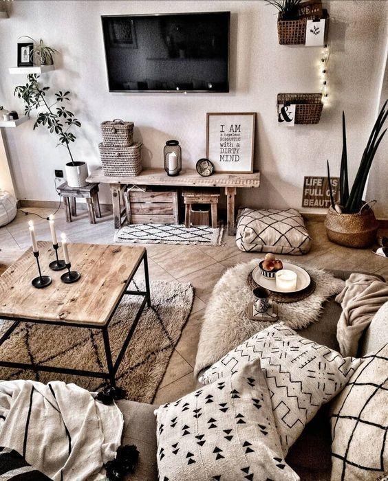 20 Ideen Fur Jedes Ein Boho Interieur Raumdeko Wohnung Homedecordiy D Homedecordiy Ide Rustic Living Room Living Room Decor Modern Farm House Living Room