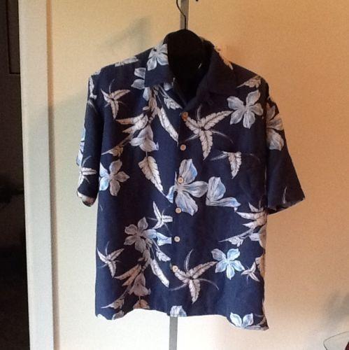 Joe Marlin Button Front Floral Pattern Shirt Sz L