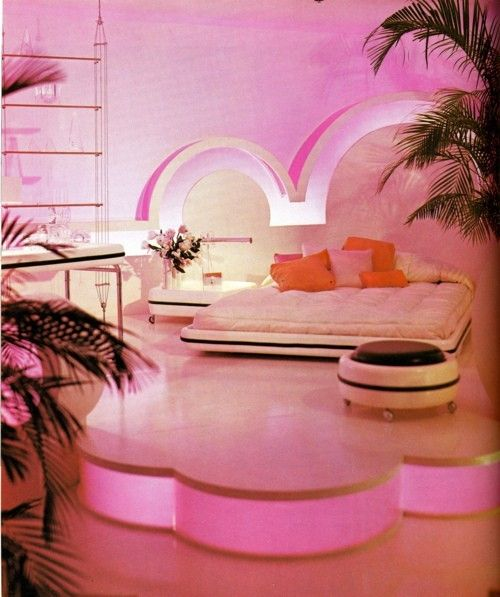 Hot pink bedroom Miami Style
