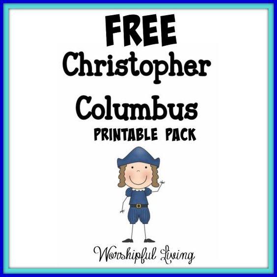 Free Christopher Columbus Printable Pack