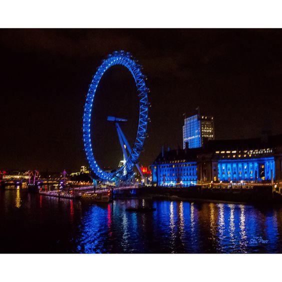 Stewart Parr 'London Eye Ferris/Observation Wheel at ' Unframed Photo Print