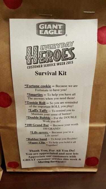 Customer service week employee kits and