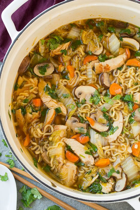 Asian Chicken Noodle Soup | Cooking Classy: