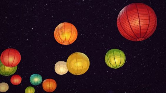10 lampions ronds SET avec LED lumière mariage parti Floral Event décoration lampe suspendue, brillent dans la partie sombre