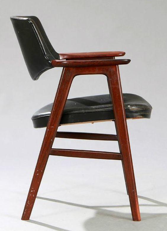 Deense vintage stoel - Erik Kirkegaard
