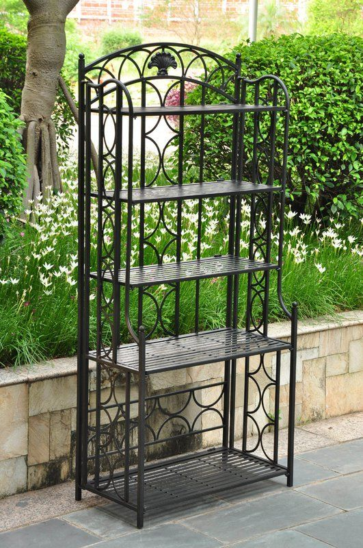 Saundra Wrought Iron Baker S Rack With Images Outdoor Bakers