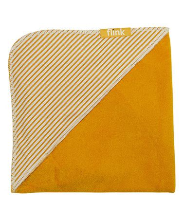Look what I found on #zulily! Sunshine Stripe Organic Hooded Towel #zulilyfinds