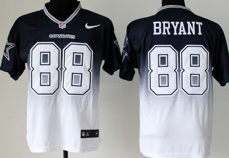 Jerseys NFL Wholesale - Nike Dallas Cowboys #88 Dez Bryant Blue/White Fadeaway Elite ...