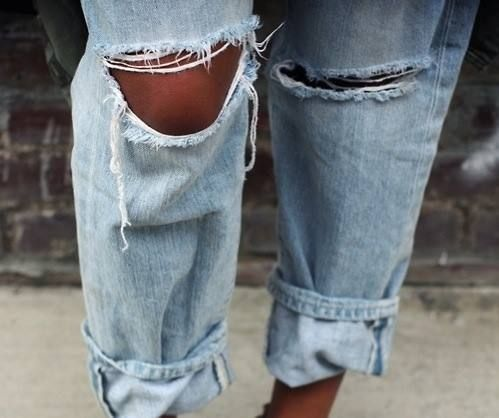 ripped jeans: