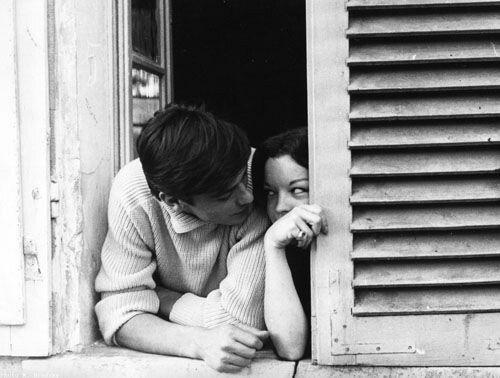 Fotogrimsi Romy Schneider And Alain Delon At Home In Tancrou In