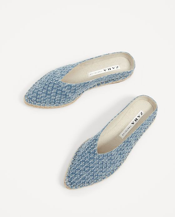 Image 3 Of Fabric Mules From Zara Mule Shoes Outfit Flat Shoes Women Shoe Boots
