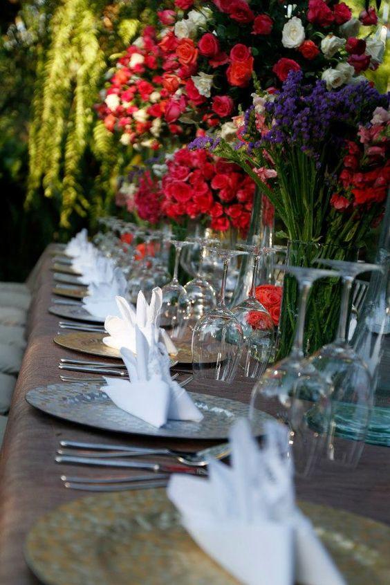 Garden table setup  TABLE SETUP  Pinterest  Garden Table, Bouquet