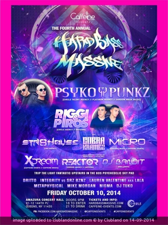 EARLY BIRD TICKETS ON SALE NOW ONLINE PRESALES ARE NOW AVAILABLE FOR PURCHASE. PSYKO PUNKZ HEADLINE HARD BASS MASSIVE 2014  PSYKO PUNKZ PSYKO PUN