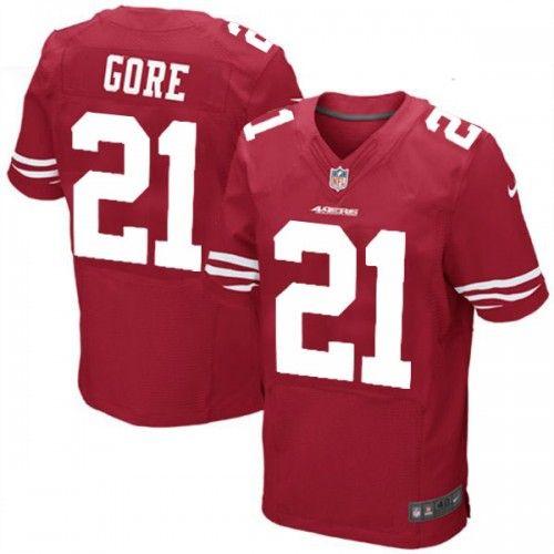 Nike Elite Mens San Francisco 49ers http://#21 Frank Gore Team Color Red NFL Jersey $129.99