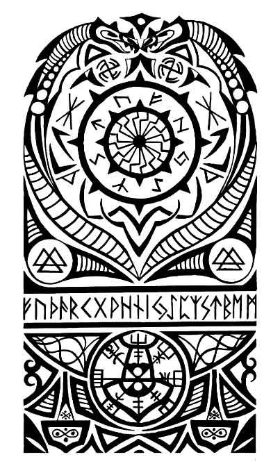 Tatuajes Vikingos Tribales