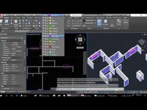 Curso Autocad 3d Dibujar Plano De Casa En 3d Parte 3 Dibujo De Vanos Ventanas Vigas Parap Dibujos De Planos Autocad Planos Aplicaciones Para Arquitectos