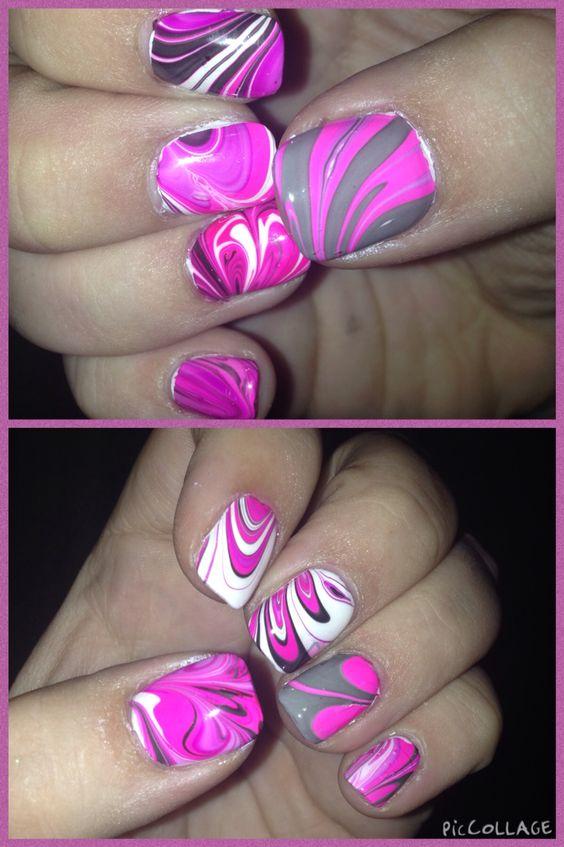 My amazing nails !!! #marble