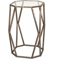 Stahl Beistelltisch Mit Glasplatte Achteckig Tollhaustollhaus