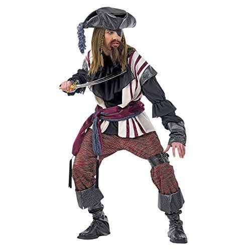 Limit Sport Piraten Kostüm Deluxe für Herren M. 8 teiliges