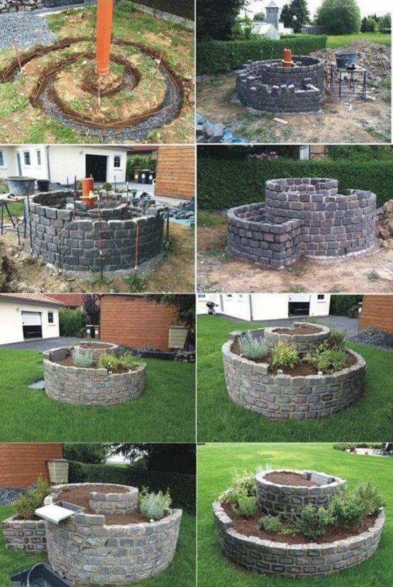 Spiral Herb Garden Pinterest Best Ideas Easy Video Instructions Garten Garten Hochbeet Ummauerter Garten
