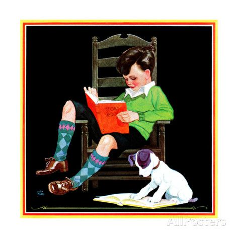 Book Report - Child Life Giclee Print by Keith Ward at AllPosters.com