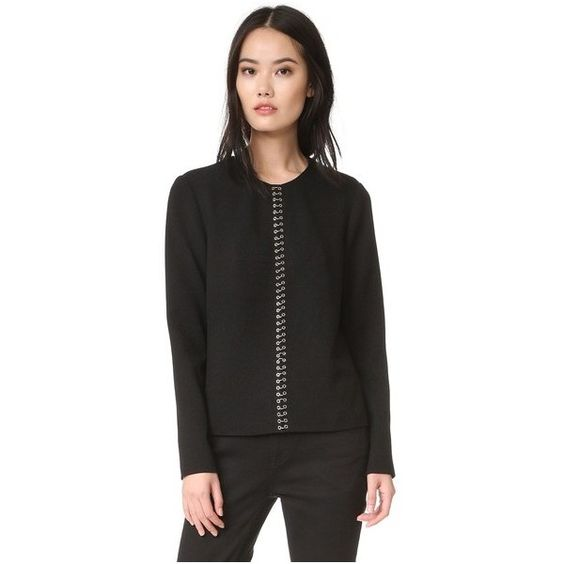 Alexander Wang Ring Piercing Pullover ($590) ❤ liked on Polyvore featuring alexander wang