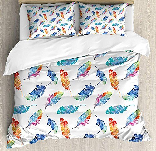 Feather Luxury Brushed Microfiber Duvet Cover Set Twin Ultra