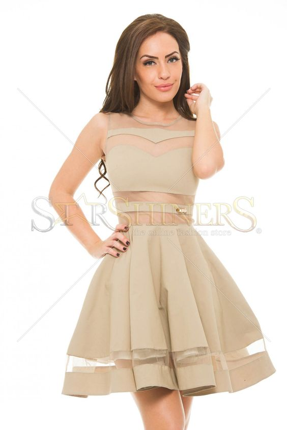 PrettyGirl Burning Cream Dress